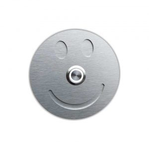 smiley_weiss Aluminium Türklingel