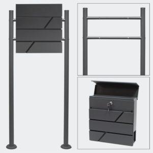 standbriefkasten-anthrazit-briefkasten-postkasten-menorca aus galvanisiertem STahl