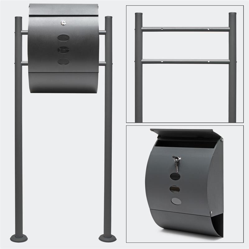 standbriefkasten anthrazit briefkasten set online einkaufen 98 80. Black Bedroom Furniture Sets. Home Design Ideas